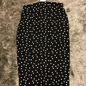 Asos maternity polka dot jersey midi pencil skirt
